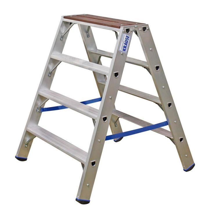 Лестница-стремянка KRAUSE Stabilo с деревянной накладкой (123862)