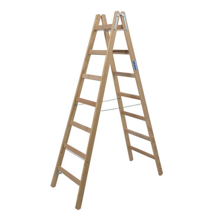 Лестница-стремянка деревянная KRAUSE Stabilo (170095)
