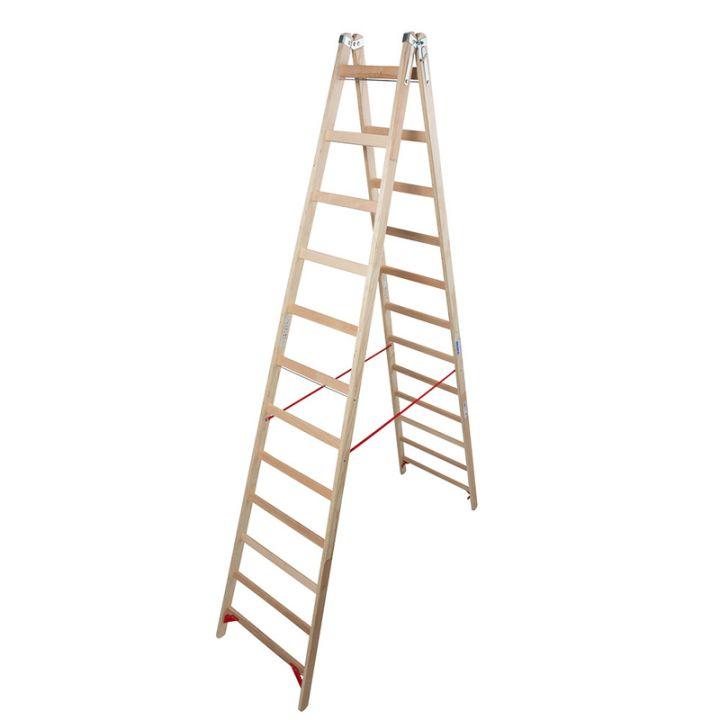 Лестница-стремянка деревянная KRAUSE Stabilo (170149)