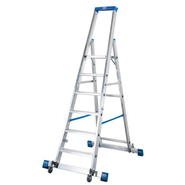 Передвижная лестница-стремянка KRAUSE Stabilo с траверсой (127303)