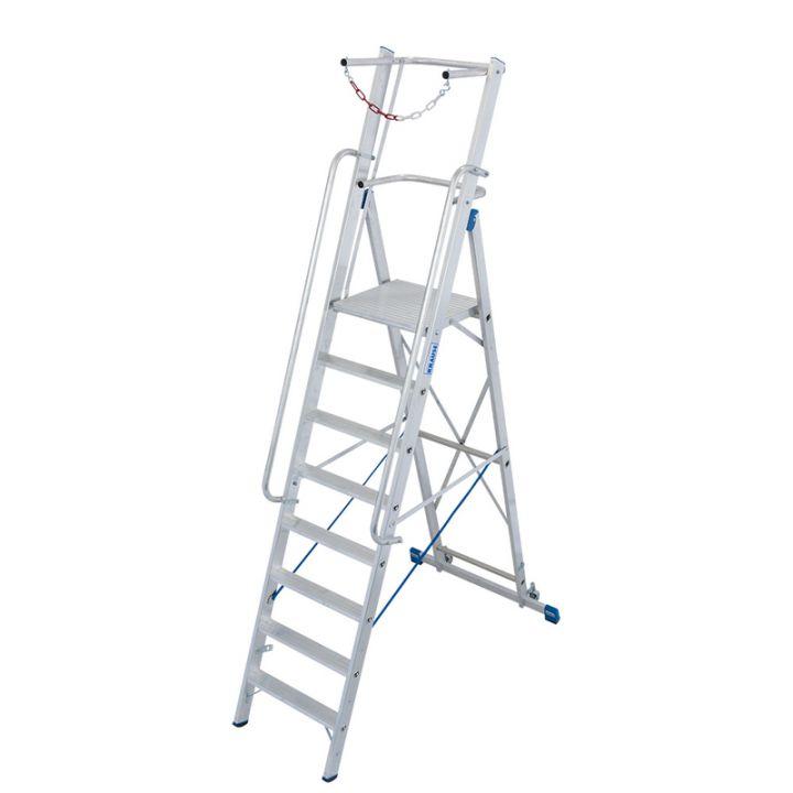 Лестница-стремянка KRAUSE Stabilo с дугой безопасности (127563)