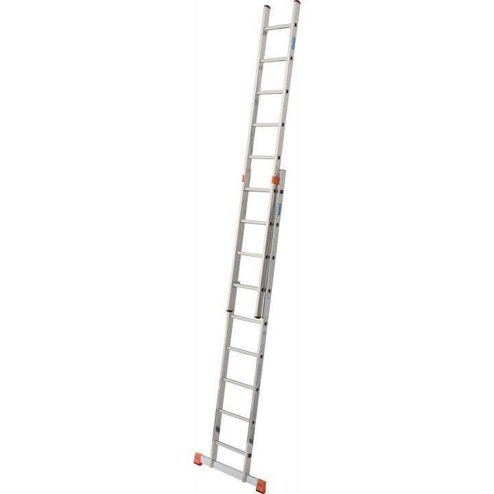 Двусекционная раздвижная лестница с перекладинами KRAUSE Monto Fabilo (129277)