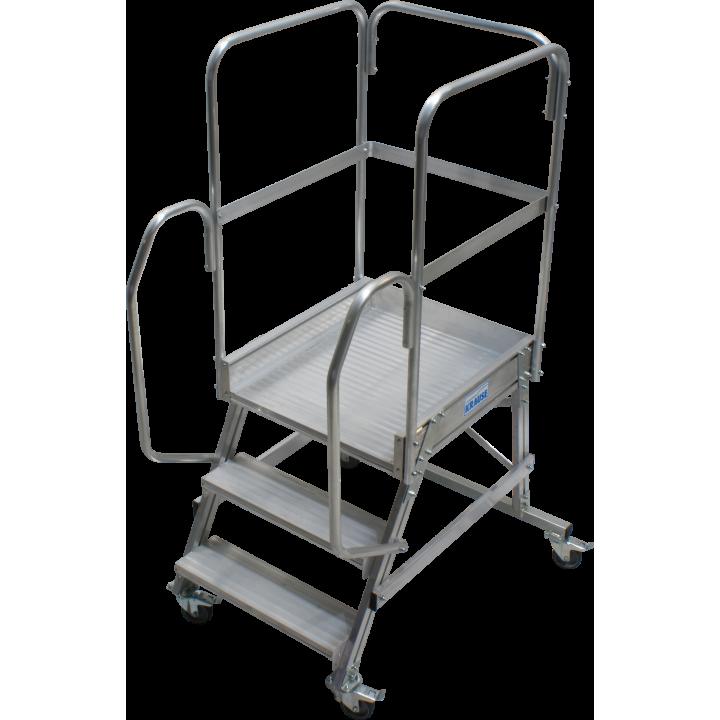 Односторонняя передвижная лестница с платформой KRAUSE Corda (820013)
