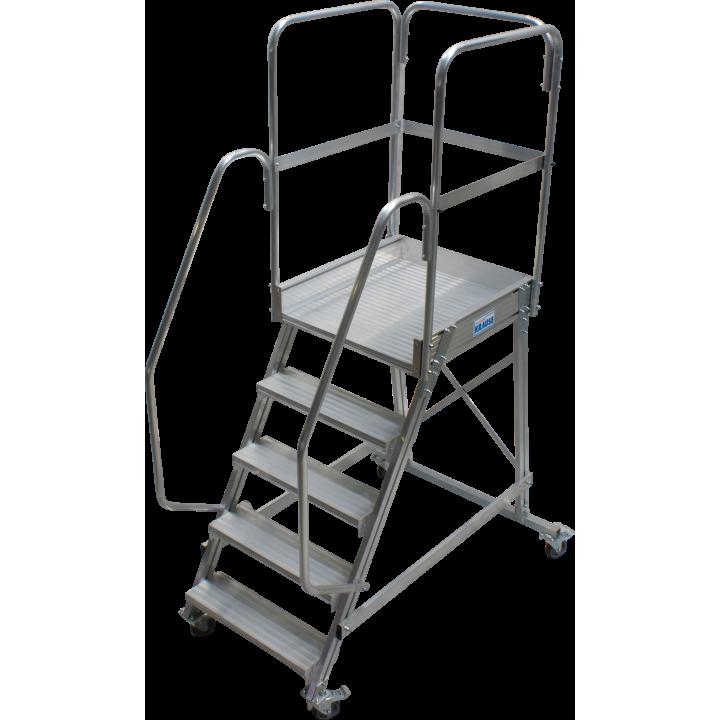 Односторонняя передвижная лестница с платформой KRAUSE Corda (820037)