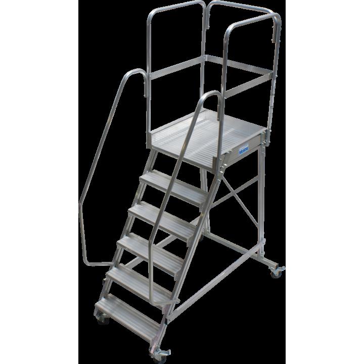 Односторонняя передвижная лестница с платформой KRAUSE Corda (820044)