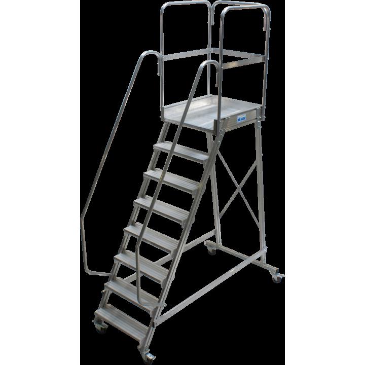 Односторонняя передвижная лестница с платформой KRAUSE Corda (820068)