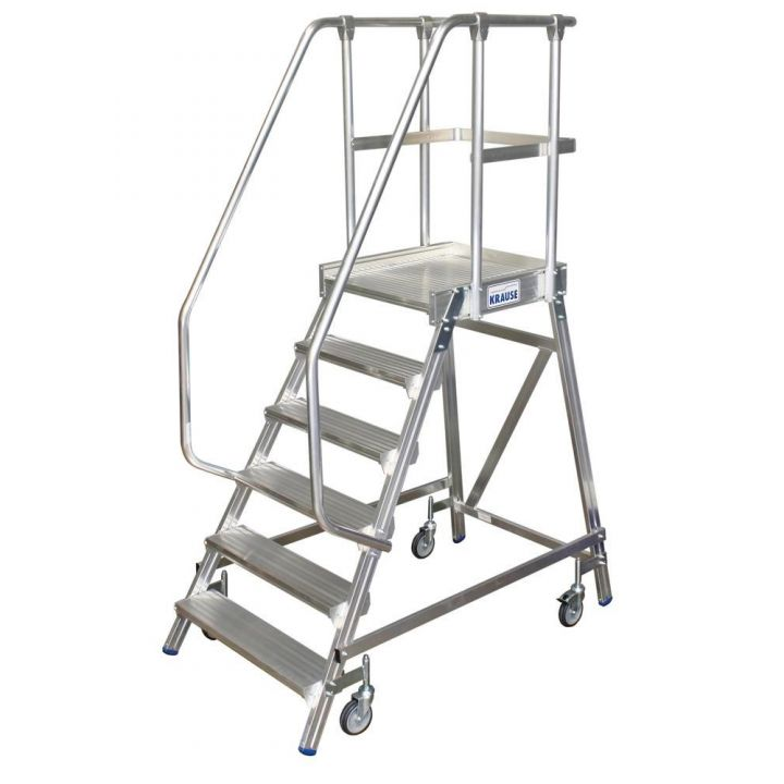 Односторонняя передвижная лестница с платформой KRAUSE Stabilo (820167)