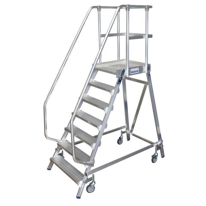Односторонняя передвижная лестница с платформой KRAUSE Stabilo (820174)