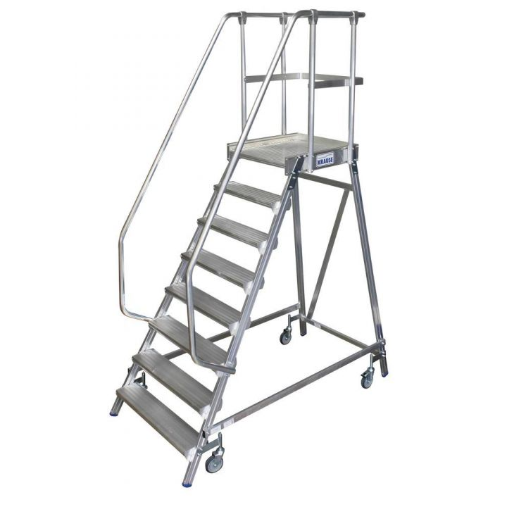 Односторонняя передвижная лестница с платформой KRAUSE Stabilo (820181)