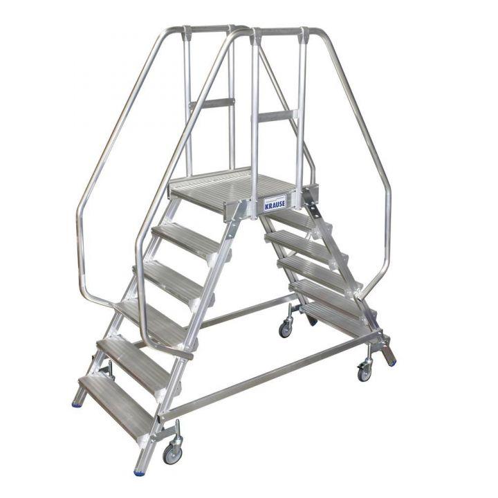 Двусторонняя передвижная лестница с платформой KRAUSE Stabilo (820266)