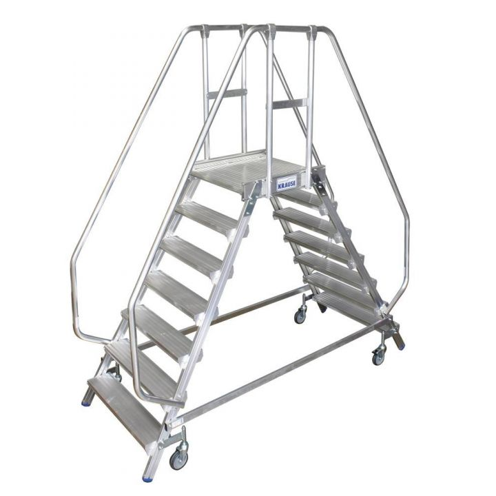 Двусторонняя передвижная лестница с платформой KRAUSE Stabilo (820273)