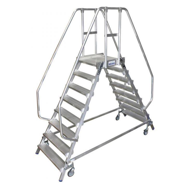 Двусторонняя передвижная лестница с платформой KRAUSE Stabilo (820280)
