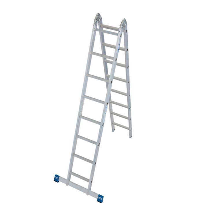Шарнирная лестница с перекладинами KRAUSE Stabilo (133915)