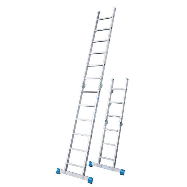 Комбинированная шарнирная лестница с перекладинами KRAUSE Stabilo (133922)