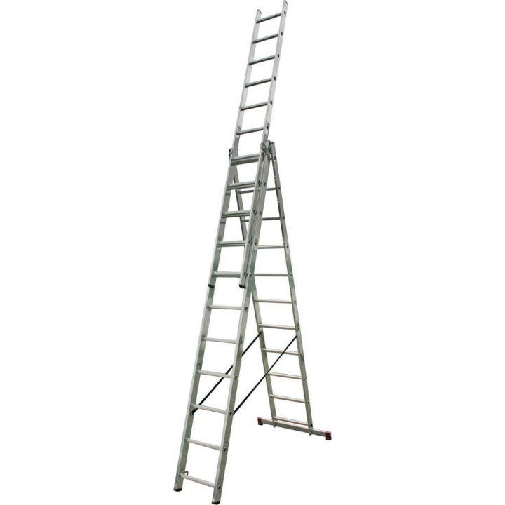 Лестница алюминиевая трехсекционная KRAUSE Corda (010421)