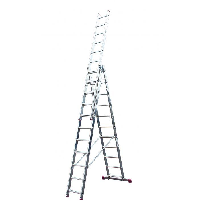 Лестница алюминиевая трехсекционная KRAUSE Corda (013422)